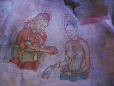 The Lion Rock Sigiriya Celestial nymphs