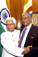 A true son of Sri Lanka (right) was welcomed in India