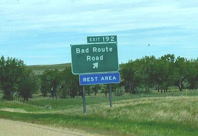 Sign on the Montana interstate