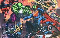papel de parede super homen vs hulk