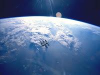 estação espacial vista do espaço