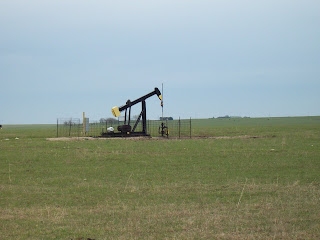 Kansas has endless oil pumps in the middle of fields