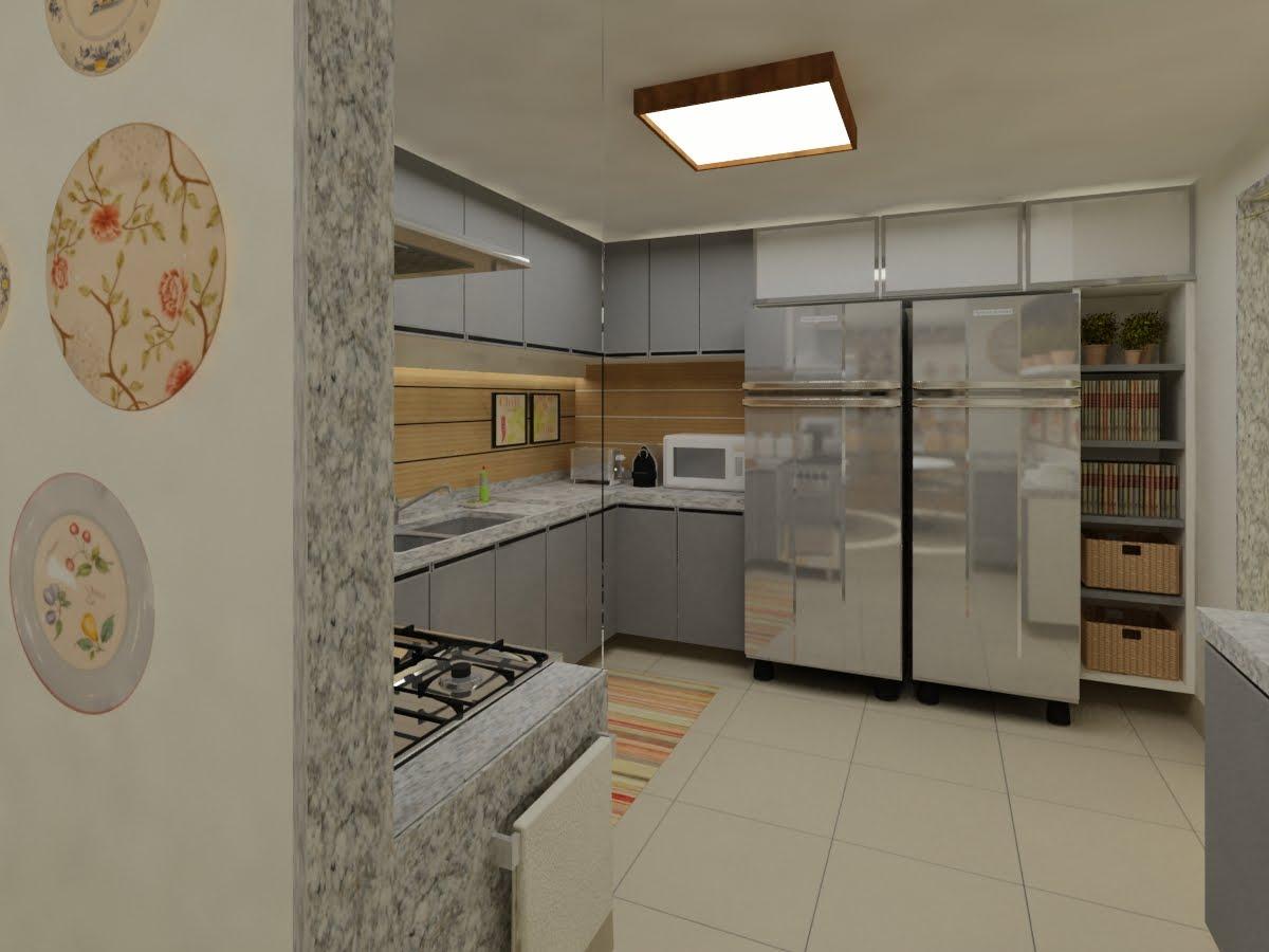 Casa Interiores & 3D: Falando de cozinha: Projetos Recentes em 3D #8F683C 1200 900