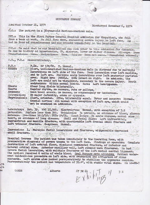 Harbor Discharge Report, Nov. 6, 1974