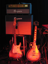 My stuff. Photo taken at Drunk Stuntmen gig, Narrows Ctr. for the Arts Fall River, MA 6/7/08