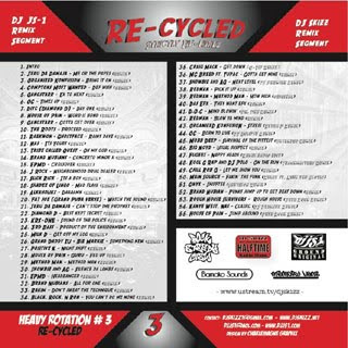 dj js-1 and dj skizz re-cycled strictly remixes mixtape back cover