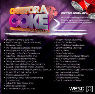 dj makasi care for a coke cokaine mixtape back cover