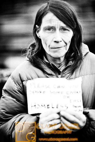 a homeless woman in seattle's south side.  seattle homeless