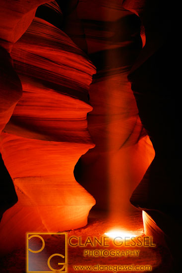 upper antelope slot canyon near page, arizona and lake powell