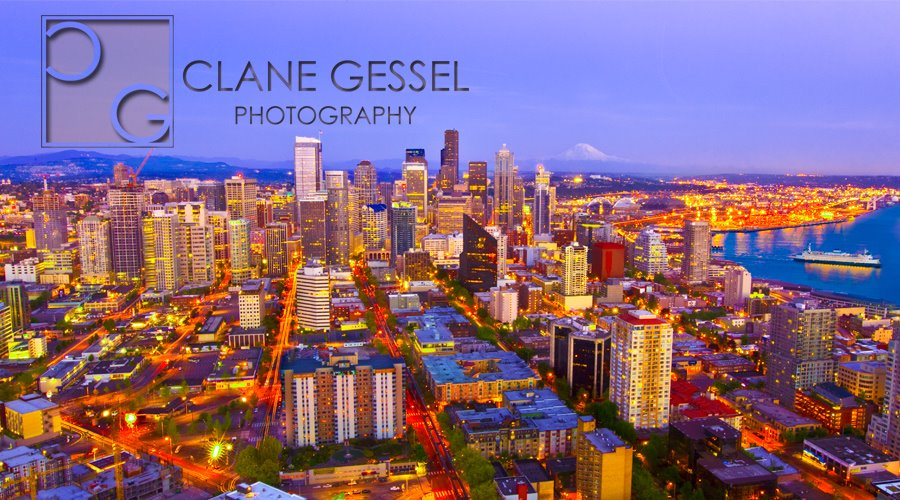 Seattle cityscape skyline view the Space Needle