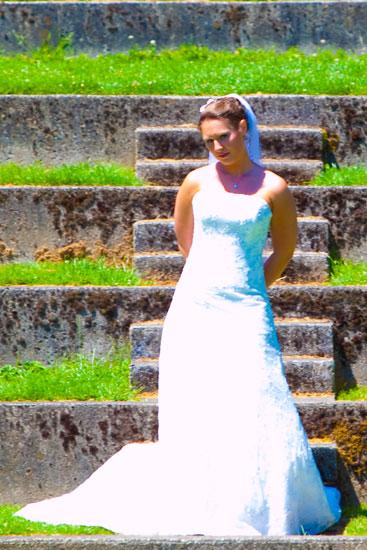 Portland rose garden wedding photos, bridals