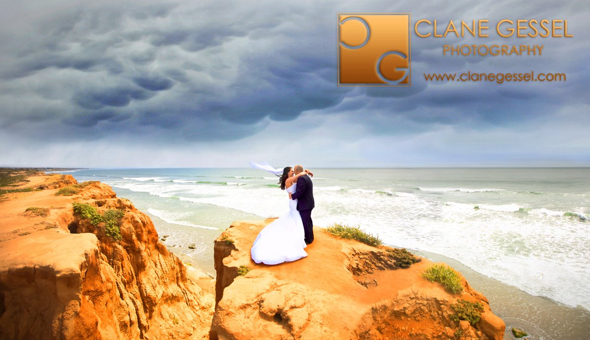 carlsbad cliffs, san diego wedding photography, carlsbad cliffs wedding pictures, wedding dress san diego