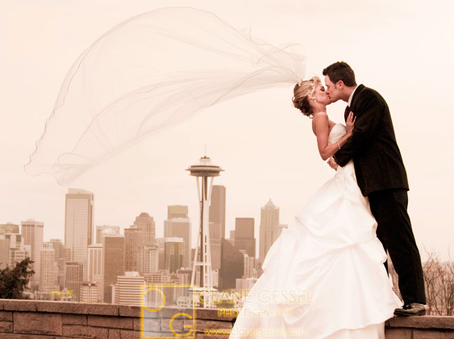 kerry park wedding, seattle wedding photography, space needle photographer