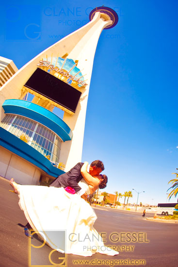 stratosphere wedding, las vegas wedding photos