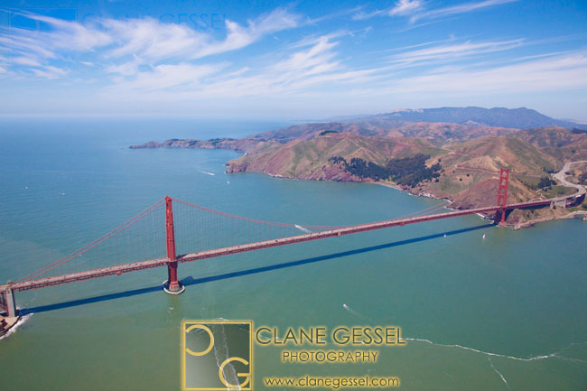 golden gate bridge aerial photography, san francisco from the air