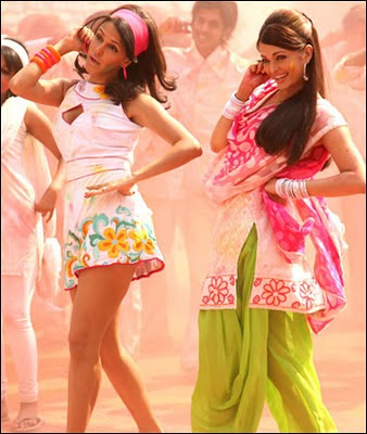 Aishwarya Rai dancing at action replay set with Neha Dhupia