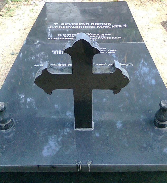 TOMB OF Fr.PANICKER AT PARANTHAL
