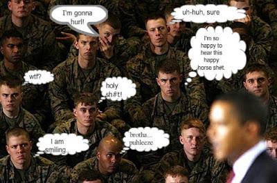 military hates obama