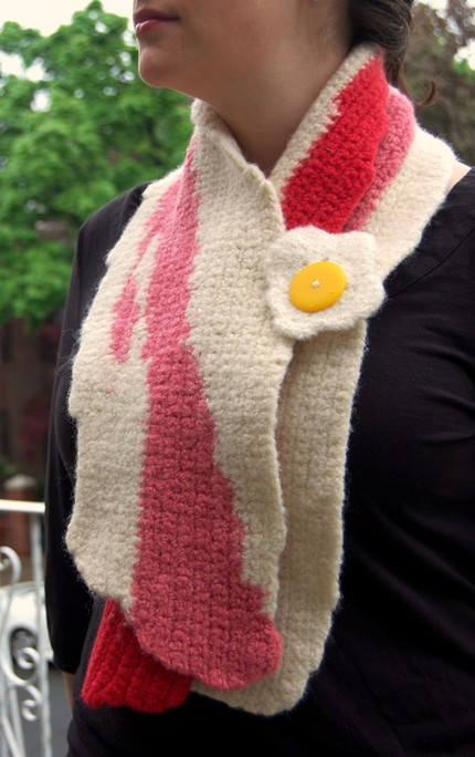Knitting Pattern Bacon Scarf : The Terrier and Lobster: Meat