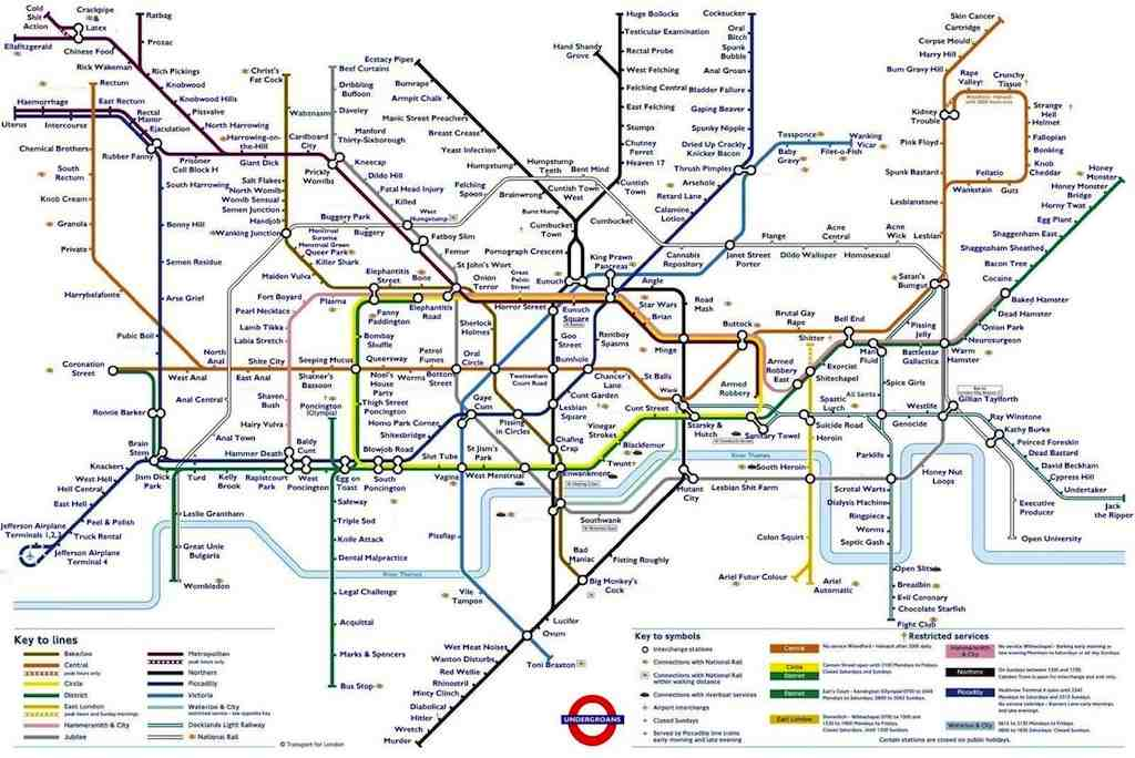 London Rude Map