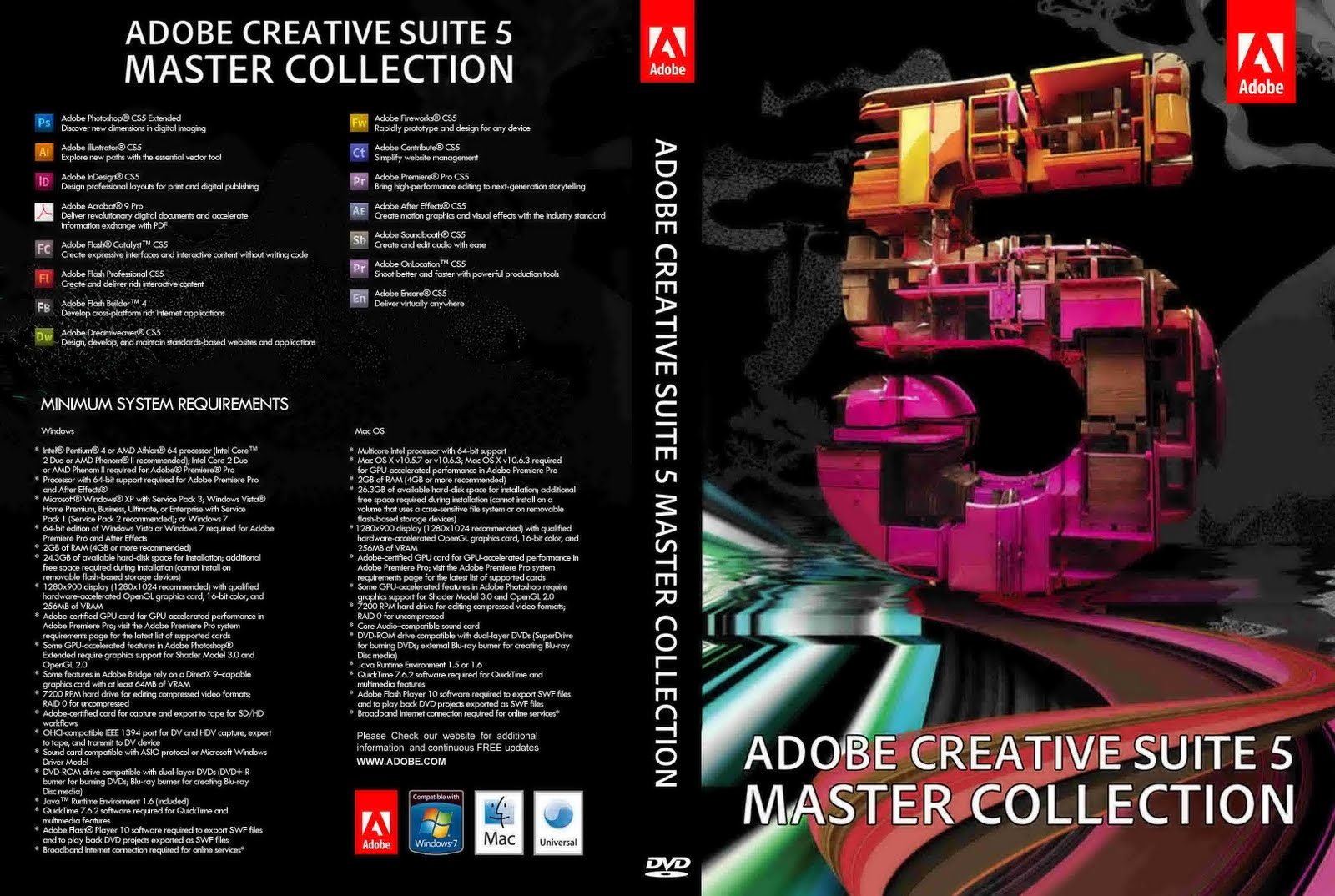Adobe creative suite 5 master collection 2017 pc serial number mac