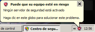 Alerta de seguridad de windows (eliminar)