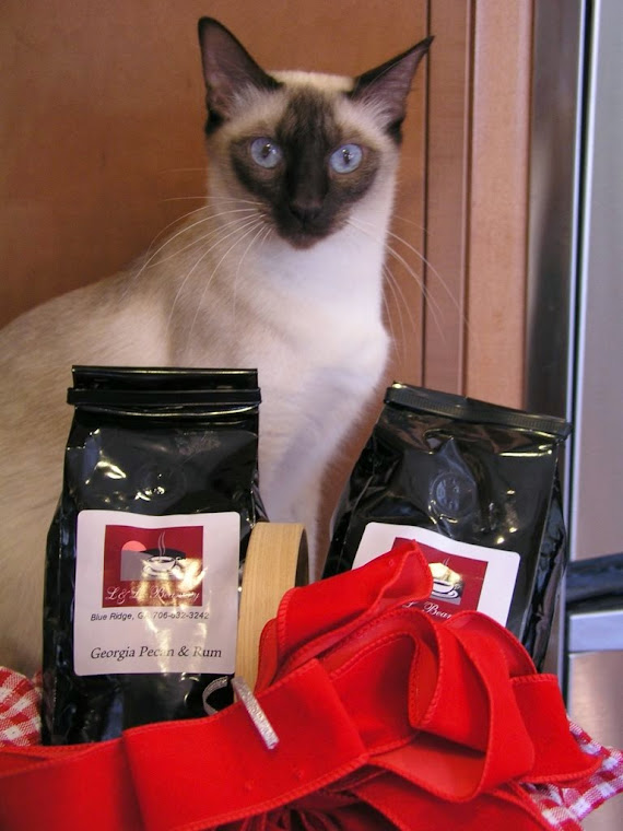 Ruby enjoying the aroma...... Thank you Debra and Greg for the gifts!