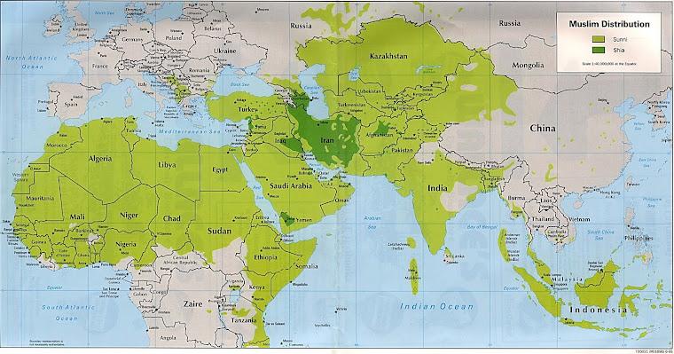 Distribución de los musulmanes
