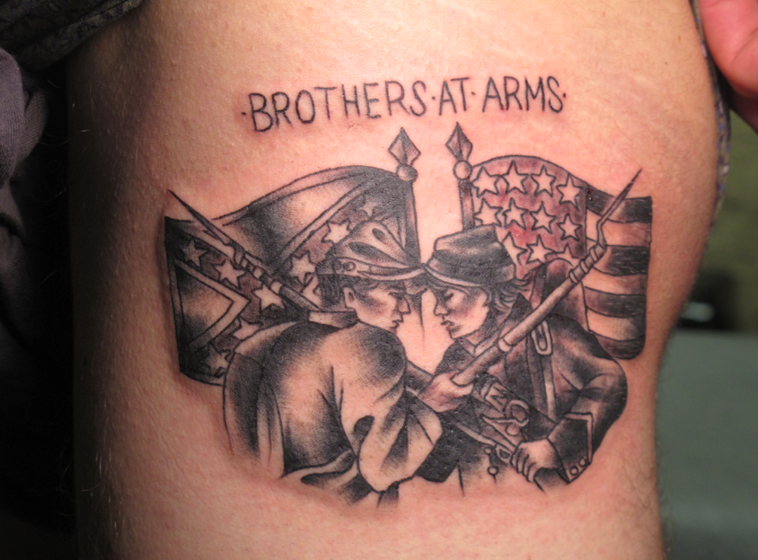 confederate tattoos. The tattoo is me and my