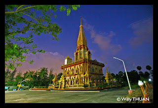 Wat Chalong at night