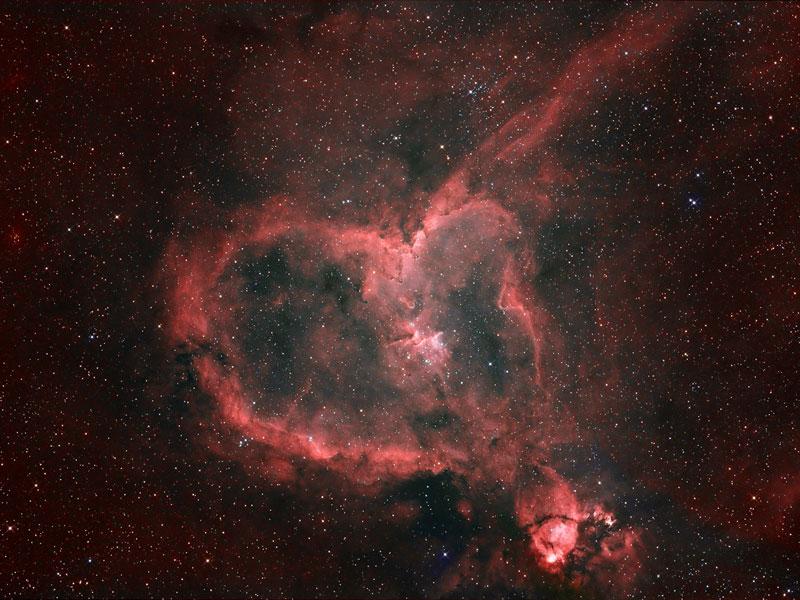 NASA Heart Nebula widescreen wallpaper