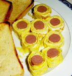 Egg and Hotdog Roll up
