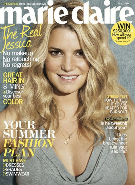 jessica simpson no makeup photo shoot. It all started with Jessica Simpson who did an au naturale photo shoot for
