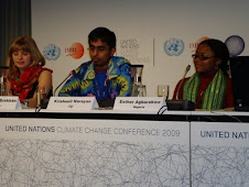 Esther at the Youth Press Conference at COP 15