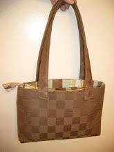Brown Checker Purse