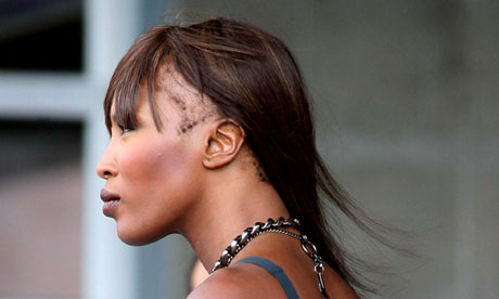 naomi campbell bald head. I saw the photo of Naomi