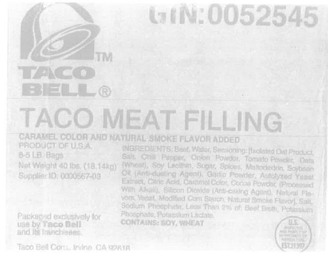 honest taco bell not beef