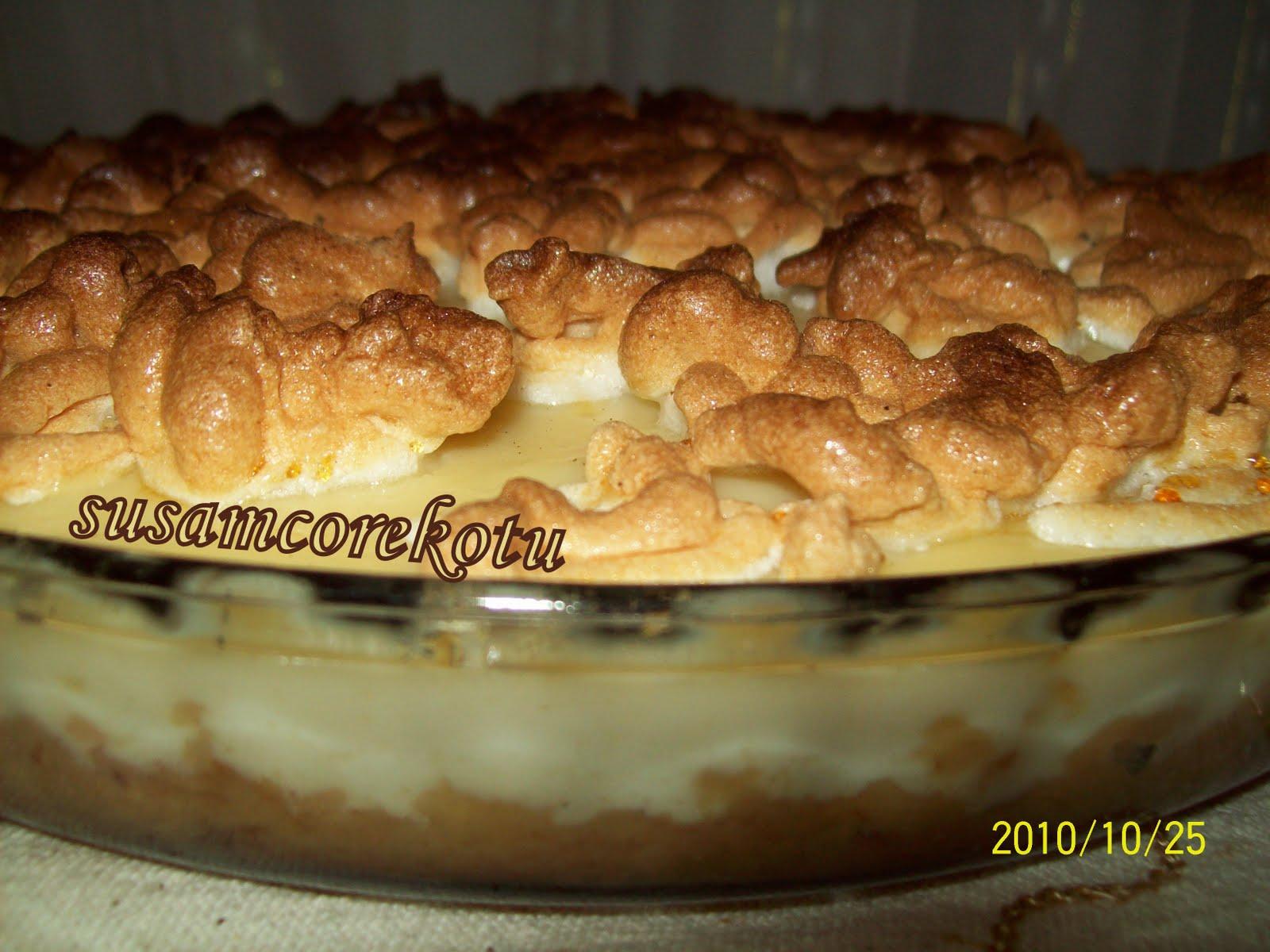 Elmalı Karamelli Muhallebi Tarifi