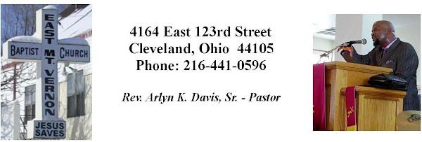 <center>East Mt. Vernon Baptist Church</center>