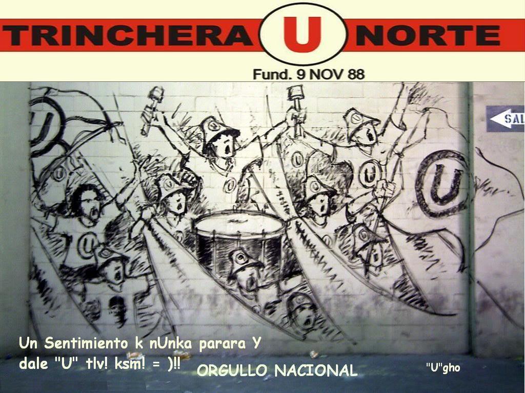 La u la trinchera norte nacimiento for Murales trinchera u norte