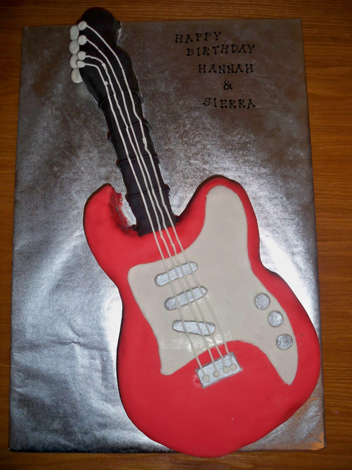 Pin acoustic guitar cake template printable michelle blog for Guitar templates for cakes