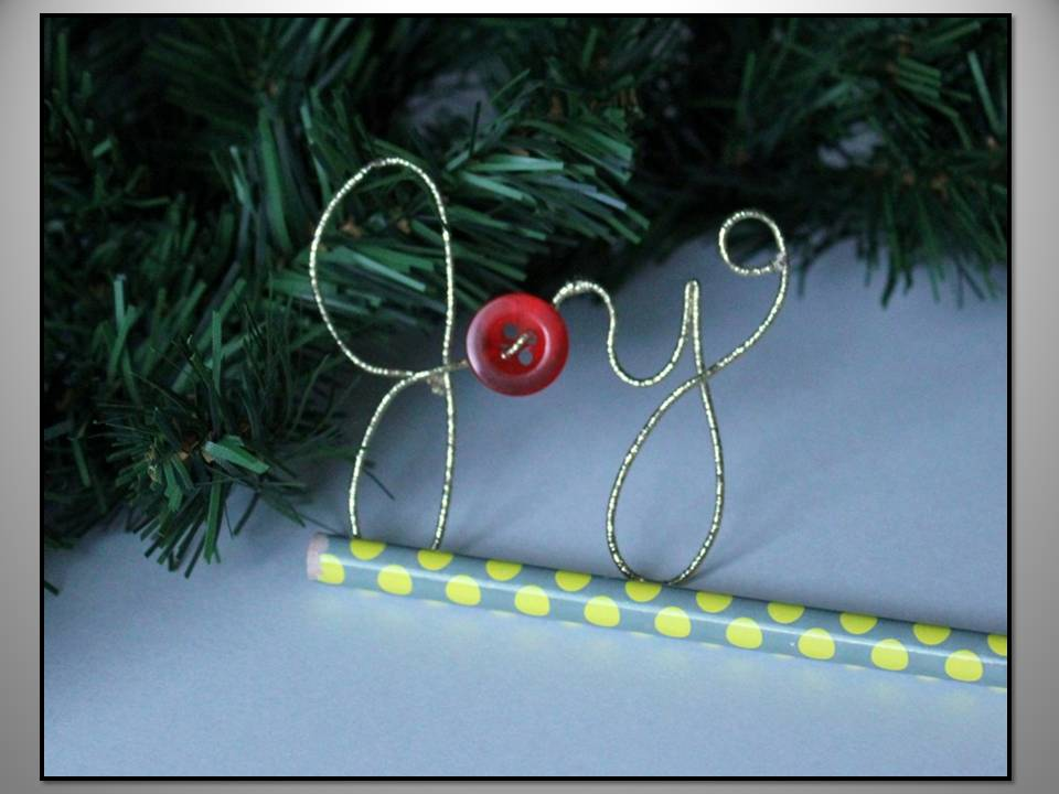 Wire Word Ornaments by Erin at Crafts & Sutch {Ornament No. 10 ...