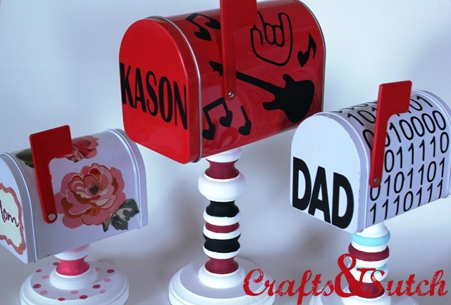 Pedestal Valentine Mailboxes Submitted by. Erin at Crafts & Sutch