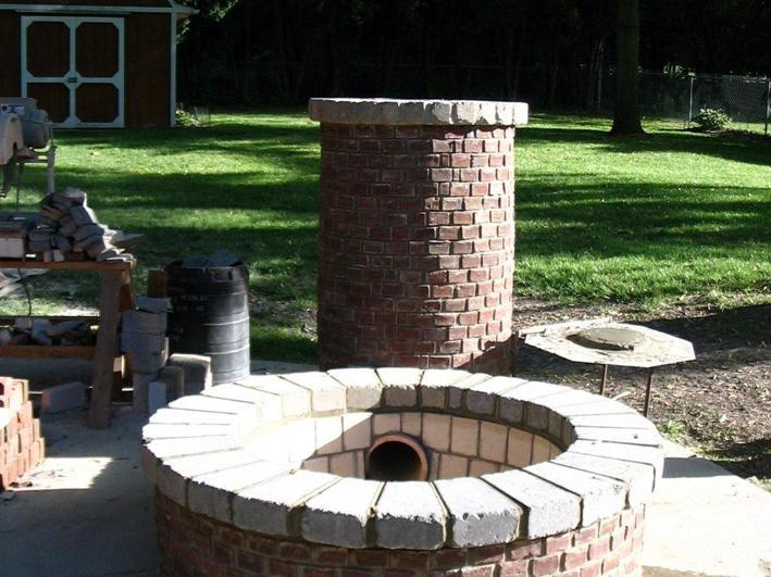 how to build a brick smokehouse