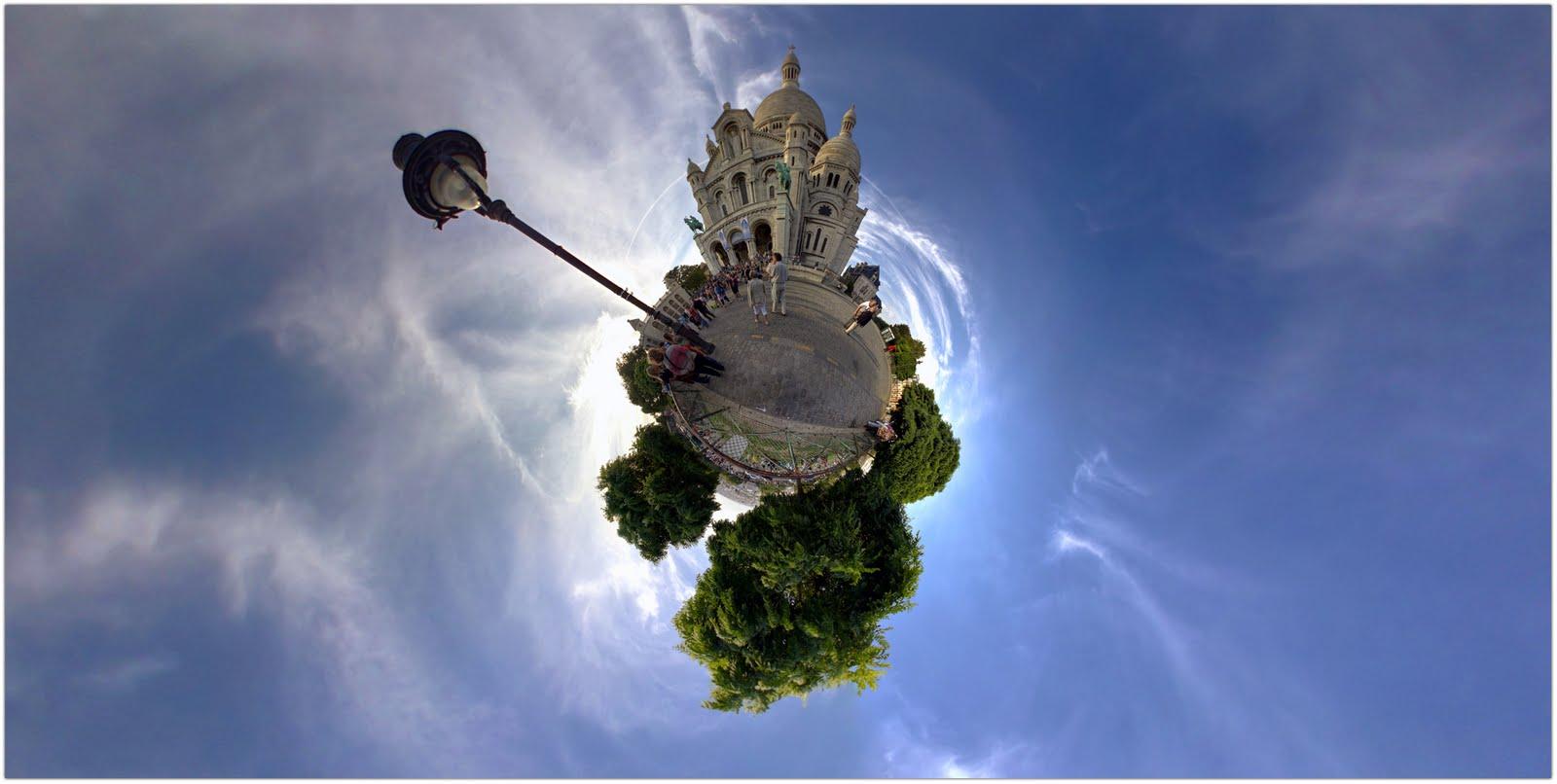 Basilique du Sacré Coeur, Montmartre (Paris 18).Panorama 360 Hdr