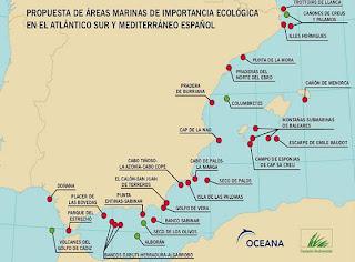 Las áreas marinas que Oceana y la Fundación Biodiversidad proponen que queden bajo protección- OCEANA