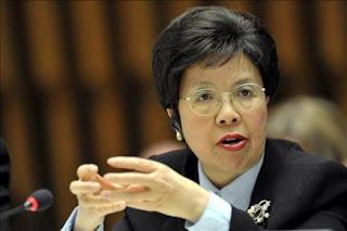 La directora general de la Organización Mundial de la Salud (OMS), Margaret Chan
