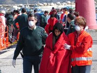 Rescatadas 78 personas de cinco pateras en Almería