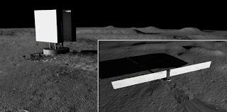Concepto artístico del Sistema de Energía por Fisión en Superficie insertado en regolito lunar. NASA