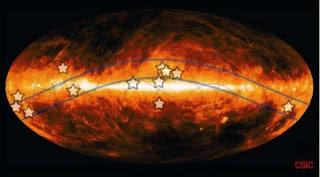 El Cinturón de Gould es una alineación transitoria de dos grupos de estrellas. CSIC